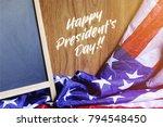 happy president's day... | Shutterstock . vector #794548450