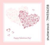 happy valentines day greeting... | Shutterstock .eps vector #794556358