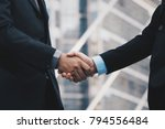 business people hand concept... | Shutterstock . vector #794556484