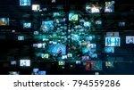 social media concept.... | Shutterstock . vector #794559286