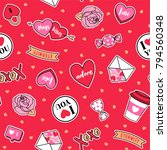 cute valentines elements... | Shutterstock .eps vector #794560348