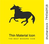 horse silhouette bright yellow...