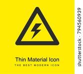 warning voltage sign of a bolt...
