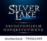 set of elegant silver colored... | Shutterstock .eps vector #794561449