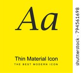 font bright yellow material...
