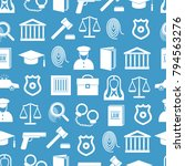 law and justice seamless... | Shutterstock .eps vector #794563276