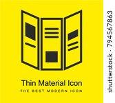 triptych brochure bright yellow ...