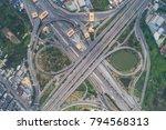 overpass freeway intersection...   Shutterstock . vector #794568313