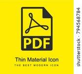 pdf file format symbol bright...