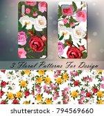 original rose phone cover... | Shutterstock .eps vector #794569660