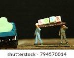 construction worker figure... | Shutterstock . vector #794570014