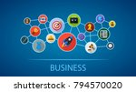 business flat icon concept.... | Shutterstock .eps vector #794570020