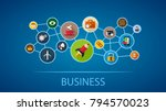 business flat icon concept.... | Shutterstock .eps vector #794570023