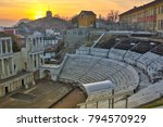 remainings of ancient roman... | Shutterstock . vector #794570929