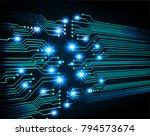 binary circuit board future... | Shutterstock .eps vector #794573674