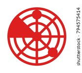 radar navigation satellite  | Shutterstock .eps vector #794575414