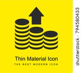 coins bright yellow material...
