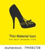 high heel bright yellow...