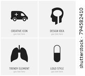 set of 4 editable health icons. ...