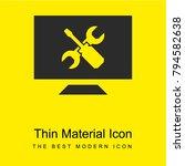 screen bright yellow material...