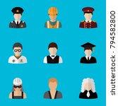 set of 9 editable job icons...