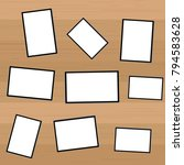 set of vintage photo frame with ... | Shutterstock .eps vector #794583628