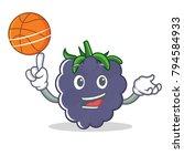 with basketball blackberry... | Shutterstock .eps vector #794584933