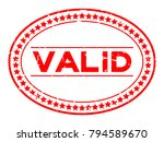 grunge red valid word oval... | Shutterstock .eps vector #794589670