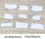 set of paper different shapes... | Shutterstock . vector #794594014