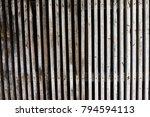 old grunge white wooden fence... | Shutterstock . vector #794594113
