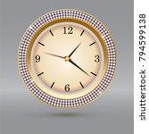 golden watch with diamonds on... | Shutterstock .eps vector #794599138