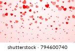hearts confetti. heart... | Shutterstock .eps vector #794600740