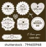 happy mothers day. i love you... | Shutterstock .eps vector #794600968