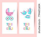 toys for girls. vector clipart. ... | Shutterstock .eps vector #794601604