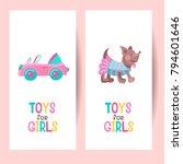toys for girls. vector clipart. ... | Shutterstock .eps vector #794601646