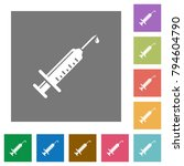 syringe with drop flat icons on ... | Shutterstock .eps vector #794604790