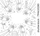 human hands clapping. happy...   Shutterstock .eps vector #794610280