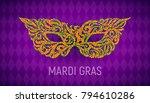 mardi gras carnival mask on... | Shutterstock .eps vector #794610286