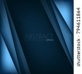 blue layer vector background... | Shutterstock .eps vector #794611864