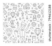 vector line web banner for... | Shutterstock .eps vector #794612188