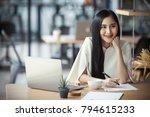 asian business woman working in ...   Shutterstock . vector #794615233