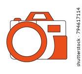 vintage photographic camera | Shutterstock .eps vector #794617114
