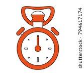 vintage sport chronometer | Shutterstock .eps vector #794617174