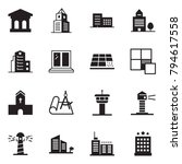 solid black vector icon set  ... | Shutterstock .eps vector #794617558