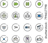 line vector icon set   play... | Shutterstock .eps vector #794617798