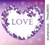 valentines day heart with iris...   Shutterstock .eps vector #794618854