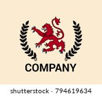 red lion leon devil flag symbol ... | Shutterstock .eps vector #794619634