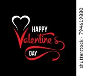 happy valentine's day greeting... | Shutterstock .eps vector #794619880