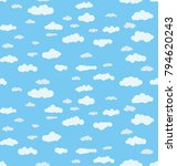seamless vector pattern with... | Shutterstock .eps vector #794620243