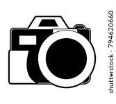 vintage photographic camera | Shutterstock .eps vector #794620660